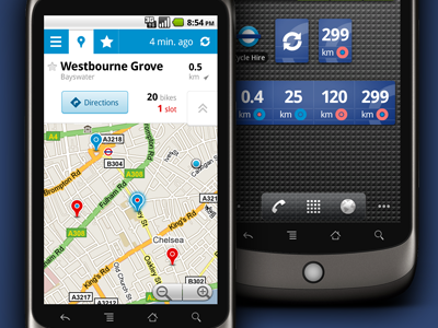 Cycle Hire Widget — UI 'Surgery' android ui