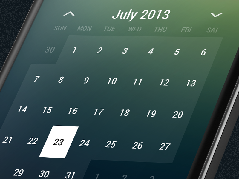 Month Calendar Widget android holo