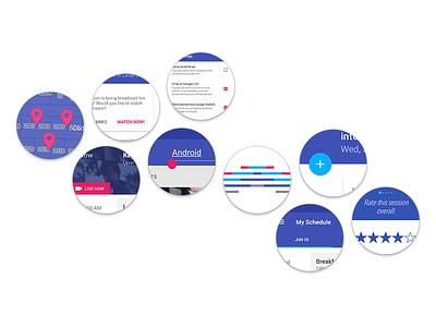 Material design in the I/O app — color android googleio material design