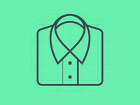 Shirt Material Design Product Icon Wireframe