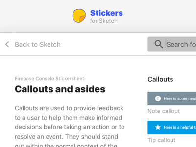 Stickers plugin for Sketch sketch