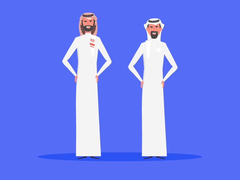Saudi Man motion arab illustration illustrator flat character