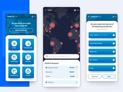 Covid-19 App telemedicine medicine medical health app healthcare coronavirus covid19 product design interface design app ux ui