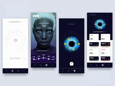 Human AI Monitoring Interface robotics robot westworld ai product design interface app design ux ui