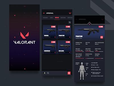 Valorant App streamer dota 2 game design graphic design gaming app gaming website valorant app fortnite valorant gaming product design design app ux ui