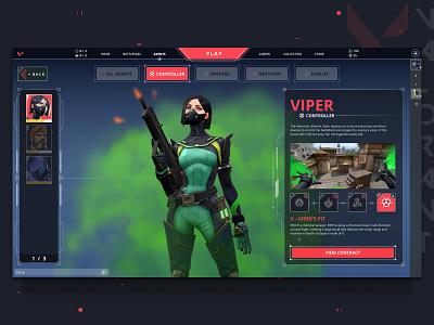 Valorant - Agent Re-design game design visual design branding app design web design website league of legends apex legends counter strike valorant app valorant esports gaming ui ux app