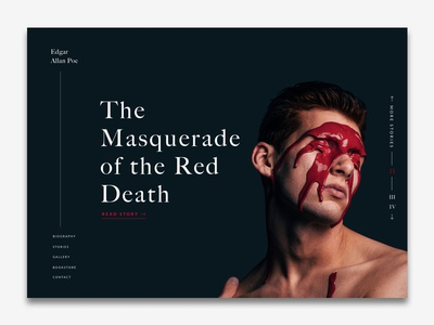 Edgar Allan Poe | The Masquerade of the Red Death - Landing Page