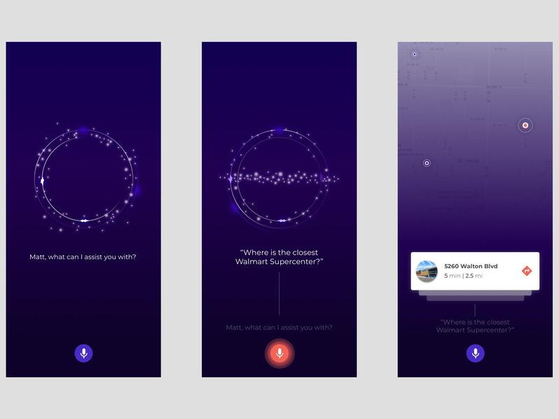 Voice UX/UI AI Concept