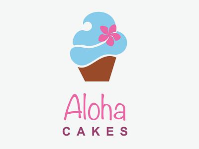 Aloha Cakes adobe illustrator branding graphicdesign logo