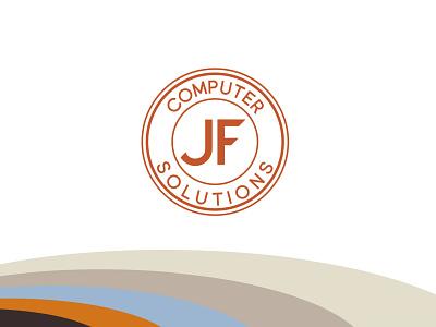JF Computer Solutions Brand Identity adobe illustrator graphic design logo design logo