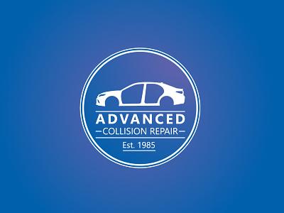 Advanced Collision Repair Logo adobe illustrator logo design branding