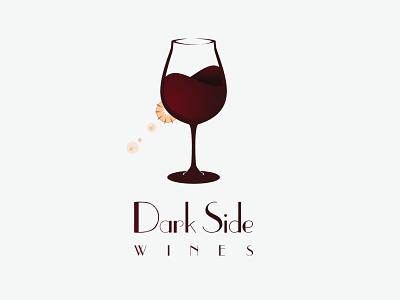 Dark Side Wines Logo adobe illustrator logo design graphicdesign logo