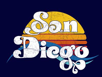 San Diego Graphic-Tee Logo graphic tee tee shirt affinity designer adobe illustrator logo graphic design