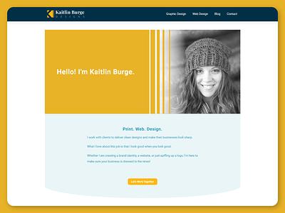 Kaitlin Burge Designs Website and Rebrand elementor wordpress graphic design branding web design