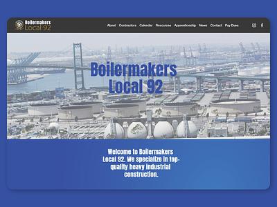 Boilermakers Local 92 Website Redesign squarespace web design