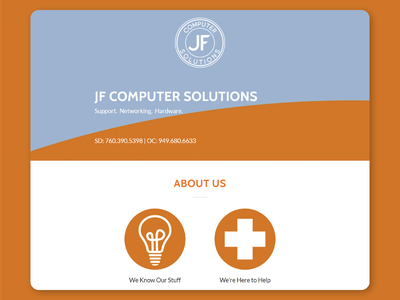 JF Computer Solutions Web Design and Branding graphic design logo branding web design