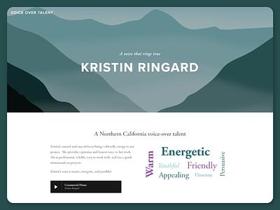 Kristin Ringard, Voice Over Talent adobe illustrator illustration graphic design squarespace web design