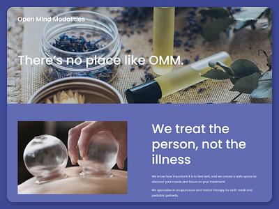 Open Mind Modalities Acupuncture squarespace web design
