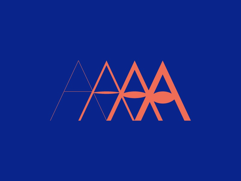 A is for Afterlife logo type eye typography a letter logo