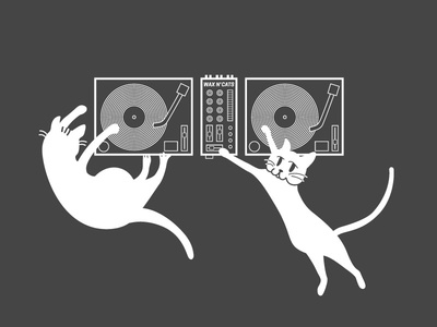 Wax n' Cats t-shirt