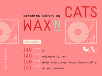 Digital Flyer for Wax n' Cats
