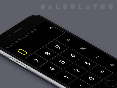 Calculator - Daily UI 004