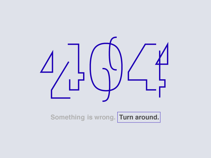 404 - Daily UI 008 type deconstructed dailyui 404
