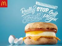 McDonalds –Egg McMuffin – Lettered