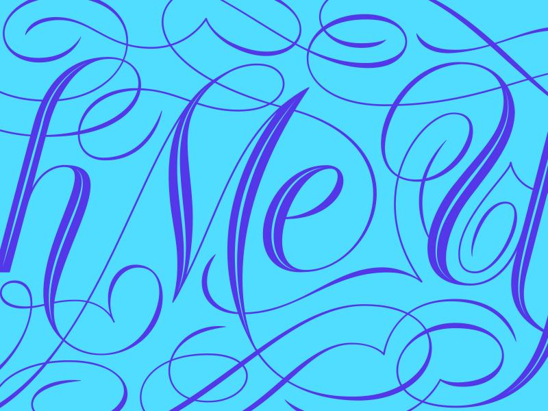 Brush Me Up Logo - Lettered lettered lettering handlettering type typography script flourish ornaments elegant