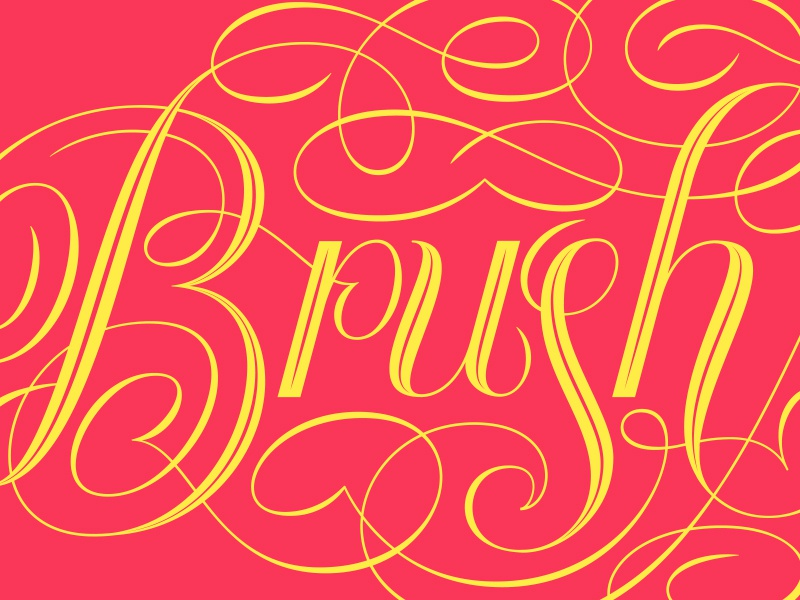 Brush Me Up Logo - Lettered lettered lettering handlettering type typography script flourish ornaments elegant