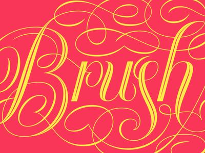 Brush Me Up Logo - Lettered