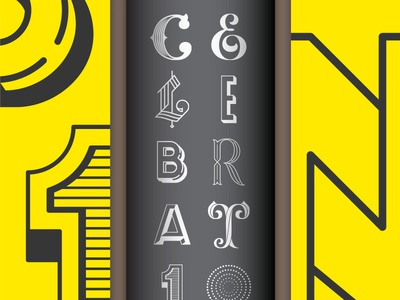 CELEBRAT10N - Lettered (WIP)