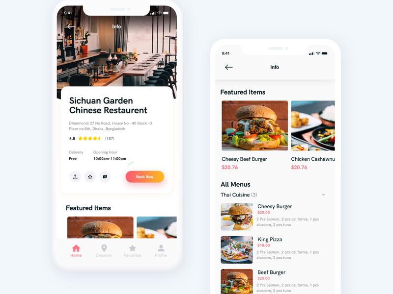 Sichuan Garden Restaurent design clean design restaurent uiux color online food delivery food app food iphonex app concept gradient clean design concept app