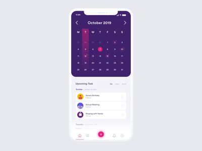 To Do App Concept mobile design mobile app design task calender schedule todoapp to do app mobile app app mobile uiux mobile ui mobile vector illustration ui clean event design color clean design