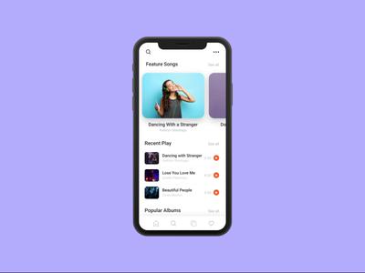Music App UI Design recent play singer dark ui dark app playlists playlist album video song music app design music album music player ui design app color clean design music app ui music app music