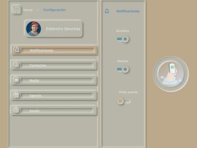 Setting page neumorphism neumorphism ui dailyuichallenge web figma design ui
