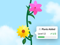 Virtual plant in app experience
