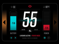 Harley Davidson LiveWire UI Concept 2