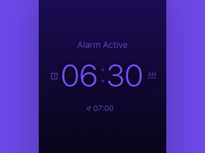 Alarm Clock App Design