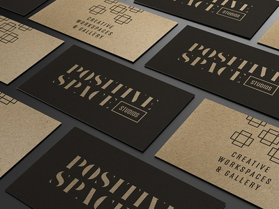 Positive Space Studios Branding identity branding business cards