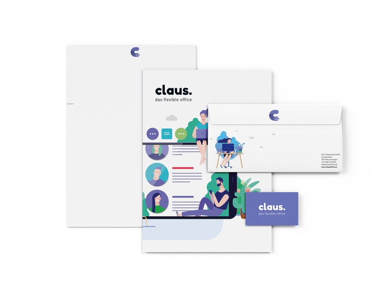 claus. Corporate Design stationary illustration corporate identity ci corporate design branding logo cd