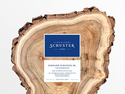 Tischlerei Schuster Businesscards tischler holz carpenter wood logo design corporate identity corporate design branding visitenkarten businesscards