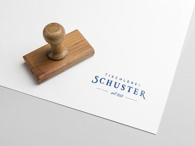Tischlerei Schuster Stamp cd clean simple branding traditional carpenter logo stempel stamp