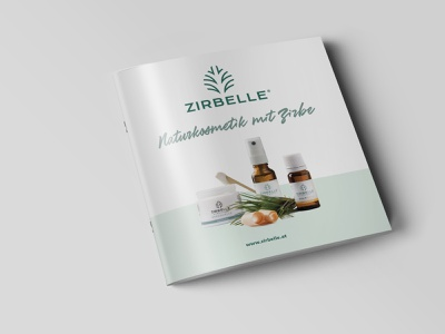 Zirbelle Folder catalog folder design print layout editorial kosmetik cosmetics zirbelle folder