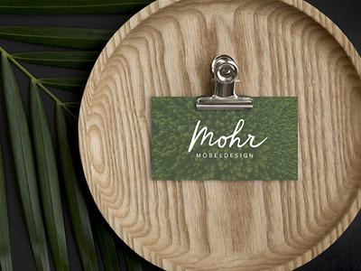 Mohr Branding brand identity cd ci holz wood handmade handlettering carpenter logo visitenkarte businesscard branding