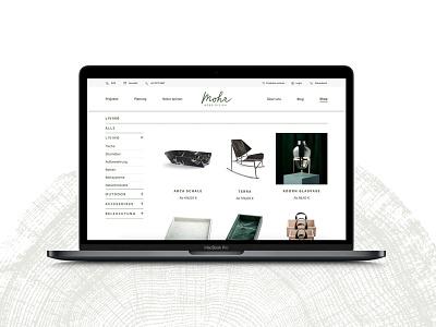 Mohr Webshop corporate design uxdesign ui ux e-commerce webshop modern minimalism minimal carpenter webdeisgn website