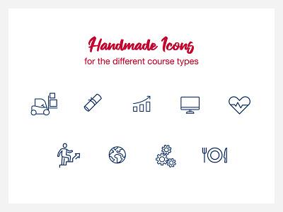BFI Icons tourism languages economy health icon custom handmade pictogram courses e-commerce webdesign bfi icons