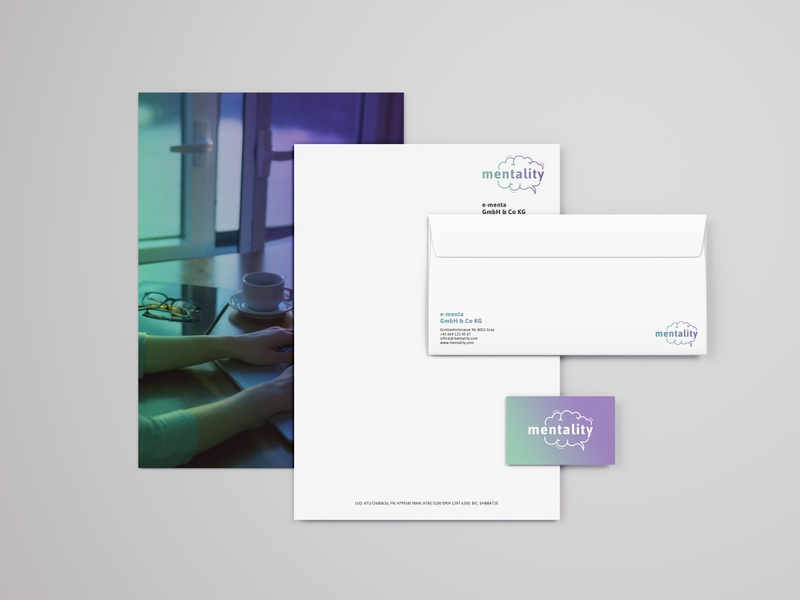 Mentality Stationery businesscard letter logo cd ci corporate identity corporate design branding stationery mentality