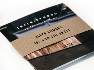 Infinitywood Branding ci corporate design print folder branding carpenter wood infinitywood