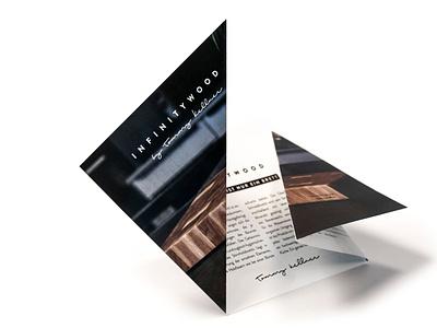 Infinitywood Branding wood minimalism print origami folder flyer corporate design ci cd branding infinitywood